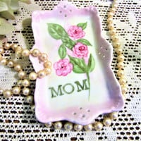 Ring Dish Mom Mother's Day Jewelry Holder Storage Porcelain Ceramic Pottery Hand Painted BB