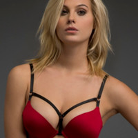 Scandalous Plunge Strappy Push-Up Bra