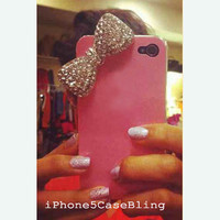 iPhone 4 case, iPhone 5 case, cute iphone 4 case, pink iphone 4 case, cute iphone 5 case, iphone 5 bow case, ipod touch 4 case, ipod touch 5