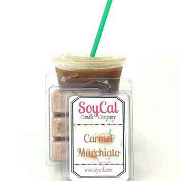 Carmel Macchiato - SoyCal Wax Melts - soy wax tart - soy wax melt - wax melt warmer - organic wax melt - eco friendly wax tart