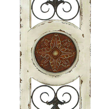 "Wood Metal Wall Panel 58""H, 12""W Wall Decor"