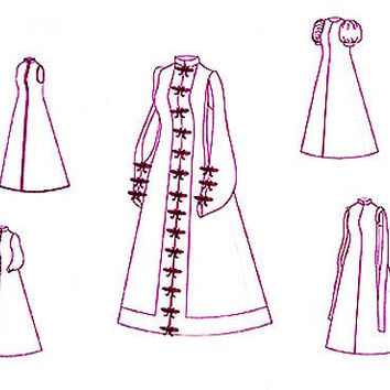 Renaissance Wedding Pattern: Spanish Loose Gown Historical Sewing Pattern