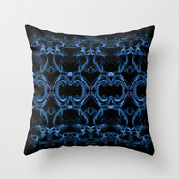 Smoke Art Square Throw Pillow by Karl Wilson Photography
