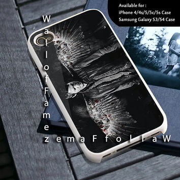 The Walking Dead Daryl Dixon Angel Wing Design for iPhone 4/4s, iPhone 5/5s/5c, Samsung Galaxy S3/S4 Case