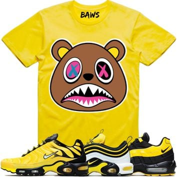 check out 2ab1b 381e8 CRAZY BAWS Yellow Shirt - Nike Air Max Frequency Pack Bumble Bee