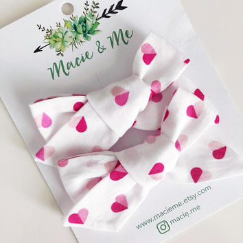 Valentines Heart Bows