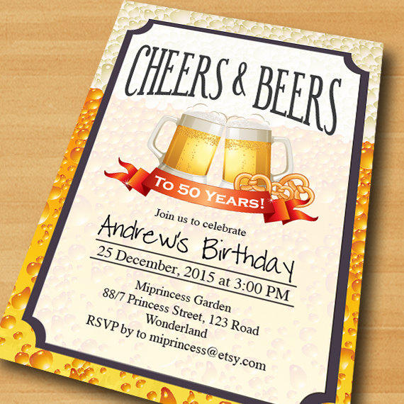 Cheers Beers Birthday Invitation Beer From Miprincess On