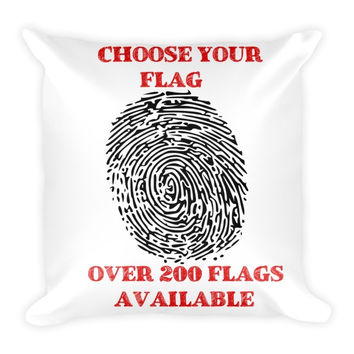 "Custom Flag Order - Pillow - 18"" x 18"""