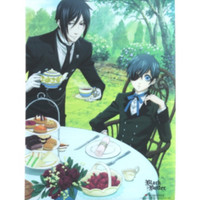 Black Butler Sebastian & Ciel Tea Time Wall Scroll