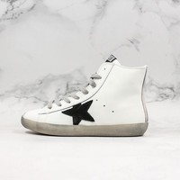 Golden Goose GGDB Francy Zip Sneakers With Black Leather Star - Best Online Sale