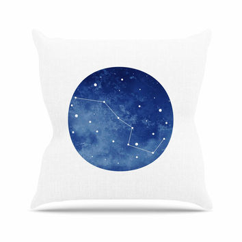 "Chelsea Victoria ""Ursa Major"" Blue Celestial Throw Pillow"