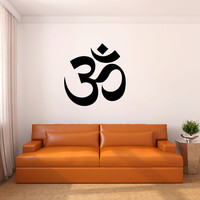 Hindu Om Symbol Vinyl Wall Decal Words