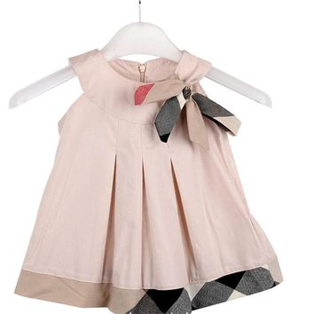 Baby Girls Dresses 2017 New Sleeveless Bow Tie Dress Party Girls Princess Dresses Vestido Infantil Children's Clothing