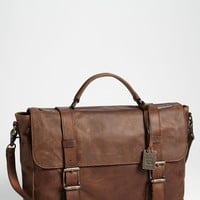 Men's Frye 'Logan' Leather Flap Briefcase - Brown