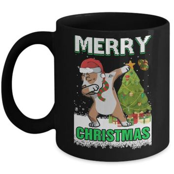 DCKIJ3 Cute Pitpull Claus Merry Christmas Ugly Sweater Mug