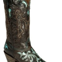 Stetson Distressed Python Inlay Cowgirl Boot - Pointed - Sheplers