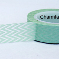 Mint zig zag Washi Masking Tape Roll Adhesive Stickers WT20