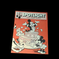RARE Vintage Walt Disney World Spotlight Summer 1978 Cast Member Comedy Magazine News Publication Mickey Mouse Memorabilia Advertisement