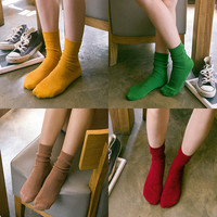 Hot Deal On Sale Korean Socks Ladies Sweets Cotton Boots [6364145028]