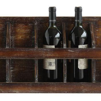 Sonoma Distressed Wood Wall Wine Bottle Holder