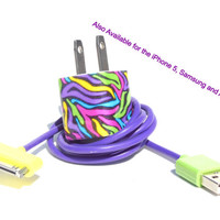 Vibrant Color Noodle Design Cell Phone Charger with Colored USB Cable