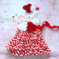 Red Heart Chevron Lace Dress, Valentines dress, red Dress,baby dress,Birthday outfit,girls dress,baby girls dress,Valentines,Christmas dress