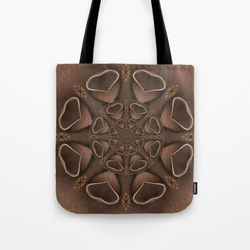 leather fantasy flower in mandala style Tote Bag by Pepita Selles