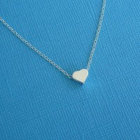 just a little love necklace in sterling silver gift for her wedding jewelry bridesmaid