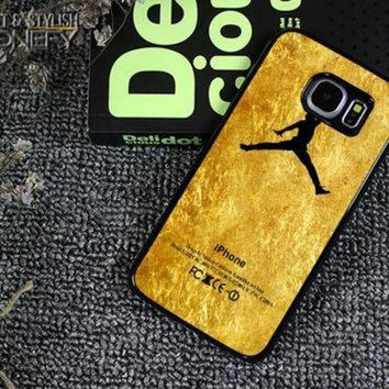 CREYUG7 Michael Jordan Golden Gold Pattern Samsung Galaxy S6 Edge Case|iPhonefy