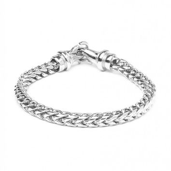 Vitaly Kusari x Stainless Steel Bracelet - Silver - Jewellery - Accessories | Shop for Men's clothing | The Idle Man