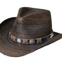 Harley-Davidson® Black/Brown Patterned Toyo Straw Hat HD-753