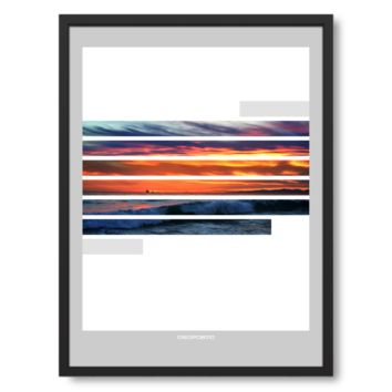 Sunstripes art poster
