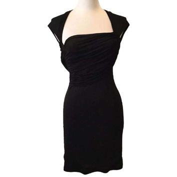 NWT BCBG Max Azria Black Rayon Knit Jersey Dress, Size Medium