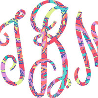 Lilly Pulitzer Monogram Script Iron on Decal