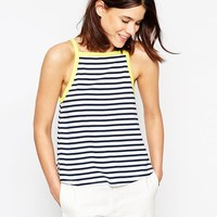 ASOS | ASOS Cami Top In Stripe With Contrast Tipping at ASOS