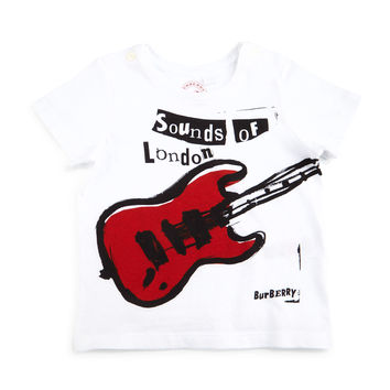 Sounds of London Jersey Tee, White/Red, Size 3M-3Y,