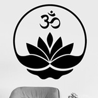 Mandala Wall Sticker Home Decal Buddha Yin Yang Floral Yoga Meditation Vinyl Decal Wall Art Mural
