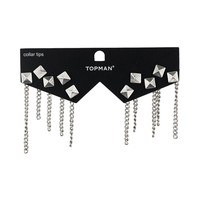 Stud And Chain Collar Tips - New In - TOPMAN USA
