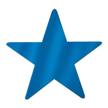 Foil Star Cutout - Blue #B7385