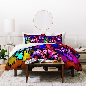 Holly Sharpe Feather Rainbow Duvet Cover