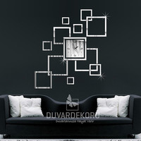 Large Mirror Wall Clock For Home Decorations | Wall Art Clock | Large Squares Wall Clock
