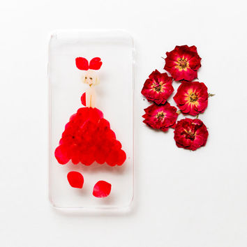 Pressed Flower iPhone Case for iPhone 6 Plus/6S Plus, Lady Beauty, LIMITED EDITION
