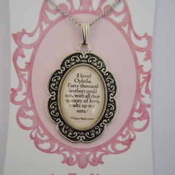 William Shakespeare Hamlet quote necklace