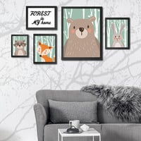 NEW Cute Animals Forest Nordic Posters and Prints Canvas Wall Art Oil Painting Wall Pictrues For Living Room Home Decor NO Frame