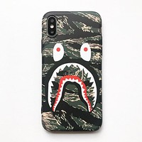 Bape Aape Fashion New Shark Print Women Men Phone Case Protective Cover