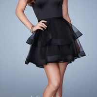 Tiered Sweetheart Homecoming Dress by La Femme