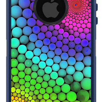 OTTERBOX Commuter iPhone 5 5S 5C 4/4s Samsung Galaxy S3 S4 S5 Note 2 3 Case Multicolor Funky Circles Dots Fashion Series Collection