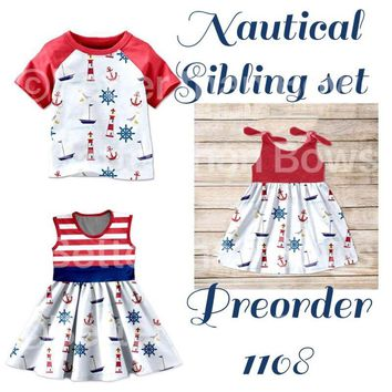 Nautical Sibling Set!! Preorder 1108* Closes 5/26@ 8pm est!! ETA 6-8 Weeks!! Extended!!!