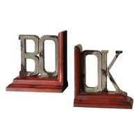 2-pc. Book Bookend Set
