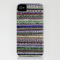 Black Pattern iPhone Case by Mad Decent Art | Society6